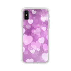 Aurora Hearts iPhone X Clear Case