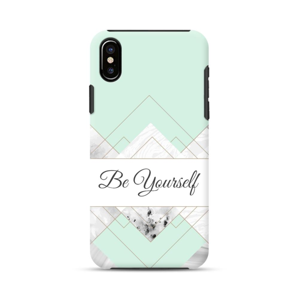 best loved 7b22a 5fc07 Be Yourself Tiffany Blue Marble iPhone X Hybrid Case