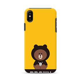 Line Friends Brown Give You Luck iPhone X Hybrid Case