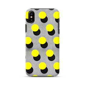 Yellow Dots iPhone X Hybrid Case