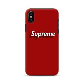 Supreme Red Cover iPhone X Hybrid Case