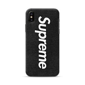 Supreme Logo Black iPhone X Hybrid Case