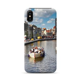 Amsterdam River View iPhone X Hybrid Case