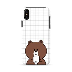 Brown Missing Cony iPhone X Hybrid Case