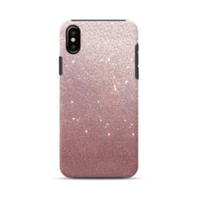 Rose Gold Glitter iPhone X Hybrid Case