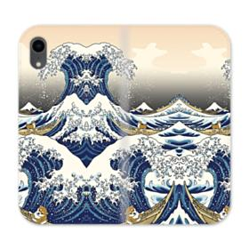 Waves iPhone XR Wallet Leather Case