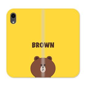 Line Friends Brown iPhone XR Wallet Leather Case