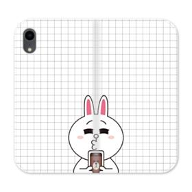 Line Friends Cony in Love iPhone XR Wallet Leather Case