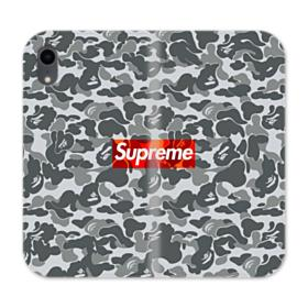Bape x Supreme iPhone XR Wallet Leather Case