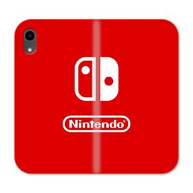 Nintendo Switch Logo Design iPhone XR Wallet Leather Case