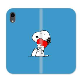 Snoopy Embracing Heart iPhone XR Wallet Leather Case