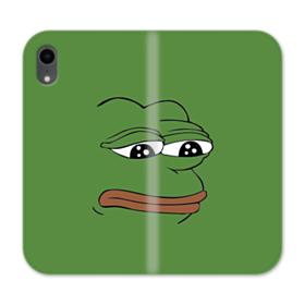 Sad Pepe frog iPhone XR Wallet Leather Case