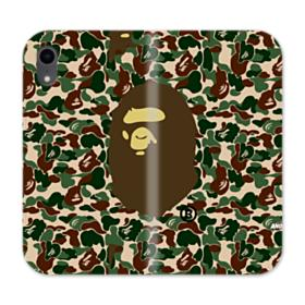 Bape Logo Camo iPhone XR Wallet Leather Case