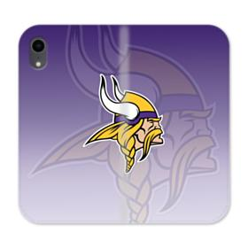 Minnesota Vikings Team Logo Overlay iPhone XR Wallet Leather Case
