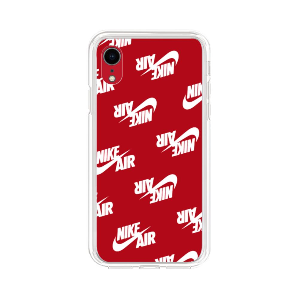 Nike Air Red iPhone XR Clear Case