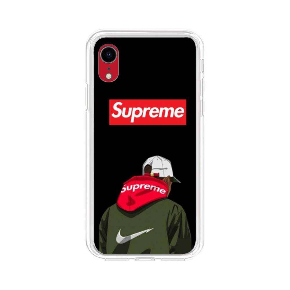 Supreme Hoodie Boy iPhone XR Clear Case