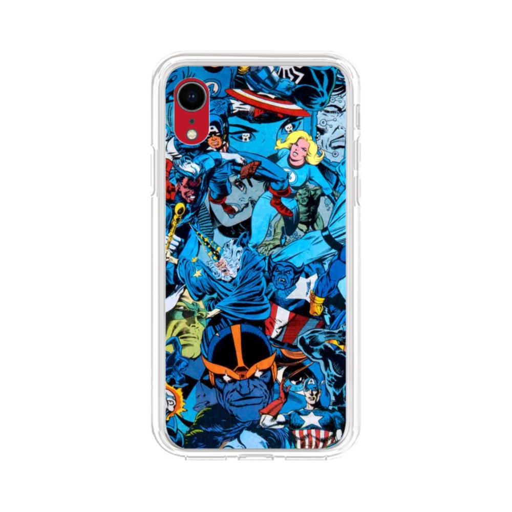 save off 04051 26fa5 Marvel Superheroes iPhone XR Clear Case