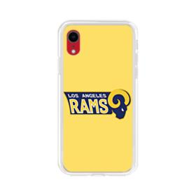 Los Angeles Rams Yellow iPhone XR Clear Case