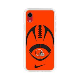 Cleveland Browns Nike Football Shape iPhone XR Clear Case