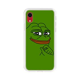 Smug Pepe Frog Funny Meme iPhone XR Clear Case