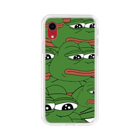 Sad Pepe frog seamless iPhone XR Clear Case