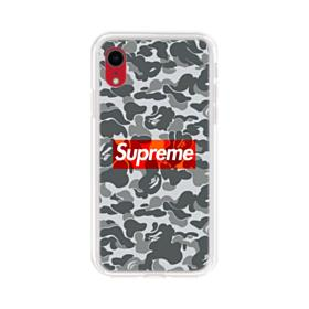 Bape x Supreme iPhone XR Clear Case