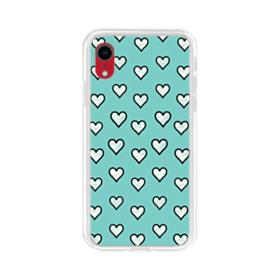 Lovely Hearts in Tiffany Blue iPhone XR Clear Case