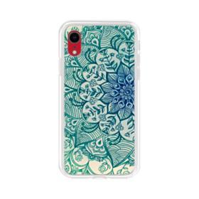 Emerald Mandala Pattern iPhone XR Clear Case
