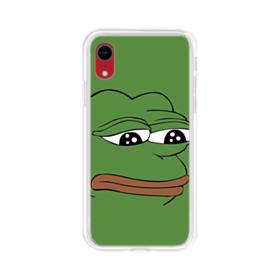 Sad Pepe frog iPhone XR Clear Case