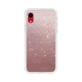 Rose Gold Glitter iPhone XR Clear Case