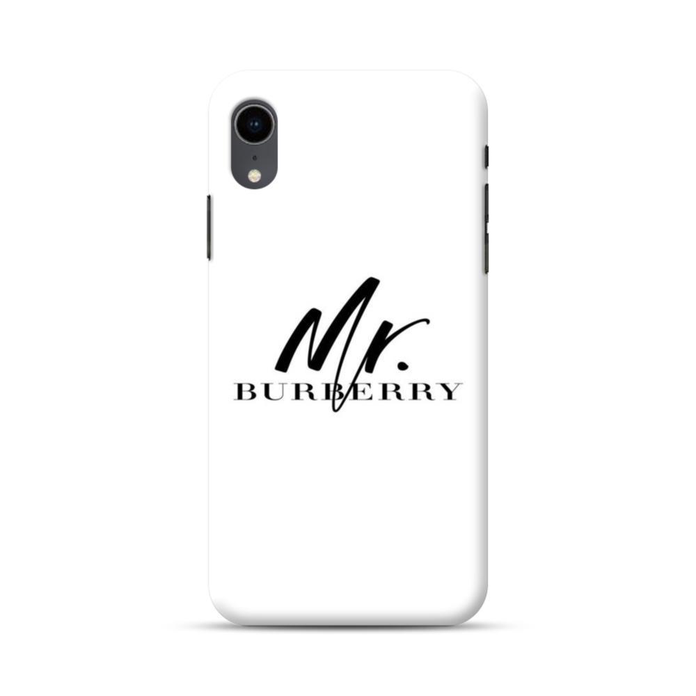 meet 4a0ad 94aa7 Mr Burberry Logo iPhone XR Case