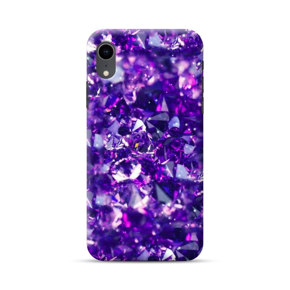 san francisco 22d13 7a835 Purple Diamond Glitter iPhone XR Case
