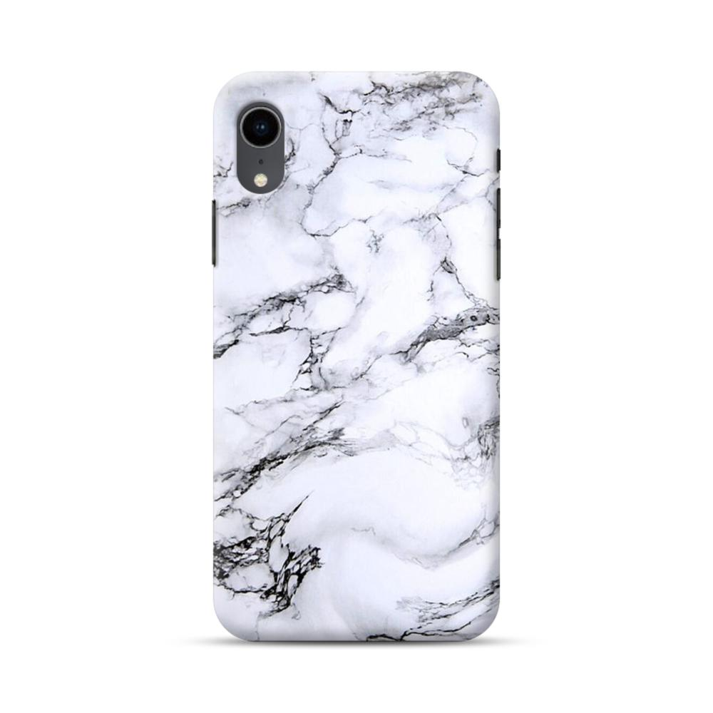 new product 3eda7 ffab1 White Marble iPhone XR Case