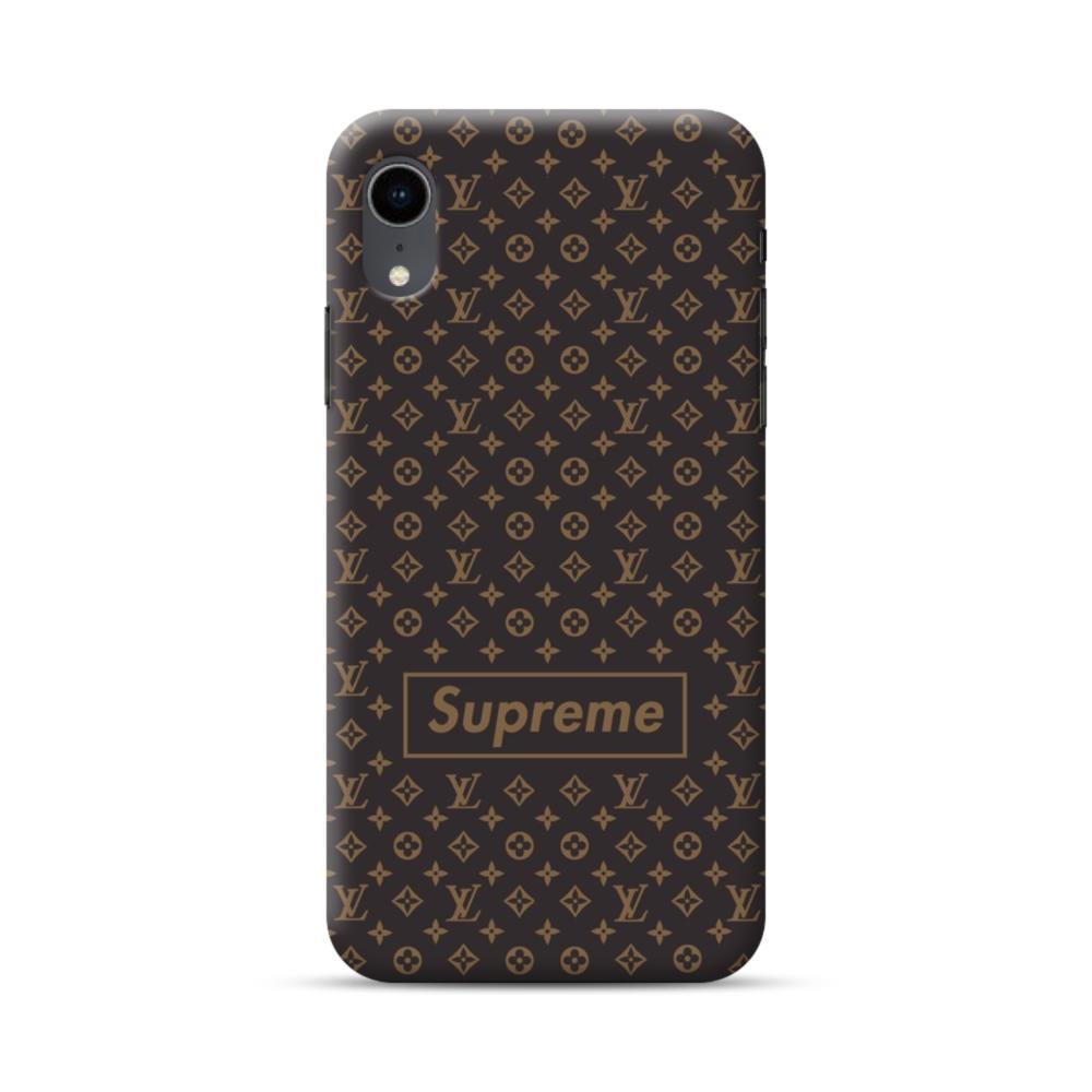 Classic Louis Vuitton Brown Monogram X Supreme Logo IPhone XR Case