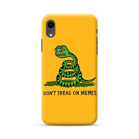 Pepe the frog don't tread on memes iPhone XR Case