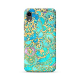 Lake Blue Mandala Pattern iPhone XR Case