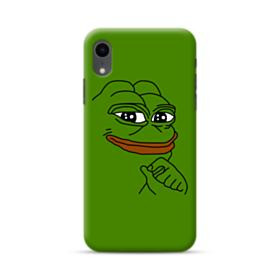 Smug Pepe Frog Funny Meme iPhone XR Case