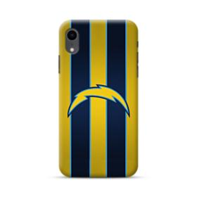 Los Angeles Chargers Team Logo Vertical Stripes iPhone XR Case