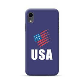 American Flag Crayon iPhone XR Case