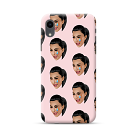 Crying Kim emoji kimoji seamless iPhone XR Case