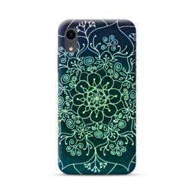 Cyan Mandala Pattern  iPhone XR Case