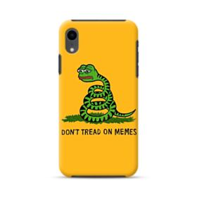Pepe the frog don't tread on memes iPhone XR Hybrid Case