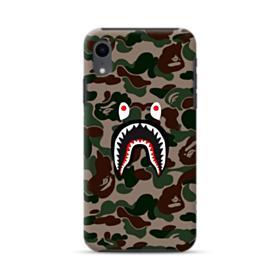 Bape shark camo print iPhone XR Hybrid Case