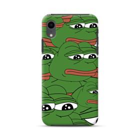Sad Pepe frog seamless iPhone XR Hybrid Case