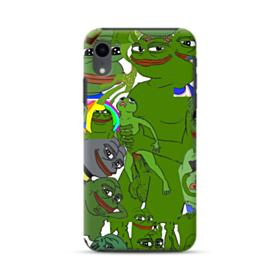Rare pepe the frog seamless iPhone XR Hybrid Case
