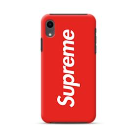 Red Supreme iPhone XR Hybrid Case