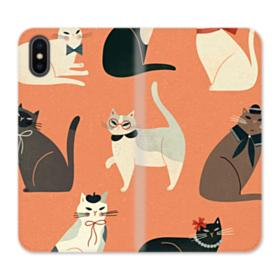 Cats iPhone XS Wallet Leather Case