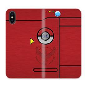 Pokedex Valor Team Logo iPhone XS Wallet Leather Case