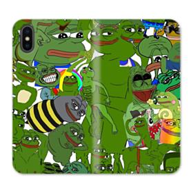 Rare pepe the frog seamless iPhone XS Wallet Leather Case
