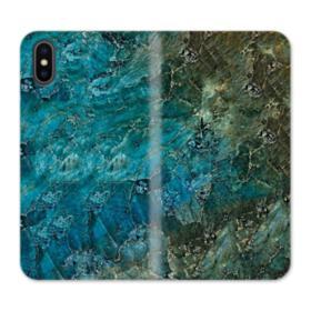 Green Marble iPhone XS Wallet Leather Case